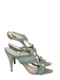 ENORA Almond green suede gladiator heeled sandals Retail price €450 Size 39
