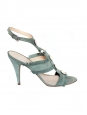 Almond green suede ladiator sandals Size 39