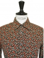 Brow red and green liberty cotton shirt Size 38