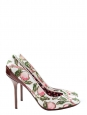 Flower fields print white pink and red stiletto heels pumps NEW retail price 550€ Size 39,5