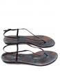 LES PRAIRIES DE PARIS Brown python printed leather flat sandals Retail price €240 Size 40