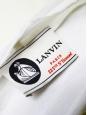 LANVIN T-shirt manches courtes en coton blanc, soie fushia et broderies Px boutique 790€ Taille S