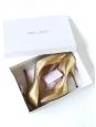 Escarpins stilettos en python métallisé doré Px boutique $920 / 680€ Taille 38