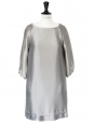 3/4 sleeves silver gold lurex cocktail dress Retail price 1200€ Size S