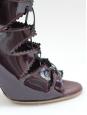 Bottines en cuir verni bordeau NEUVES Prix boutique 950€ Taille 37