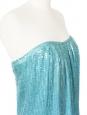 JAY AHR Mini robe bustier à sequins bleu turquoise Prix boutique 1400€ Taille XS