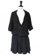 Black linen hooded dress Retail price €300 Size 36