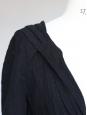 Robe cintrée à capuche en lin noir Taille 1 / 36