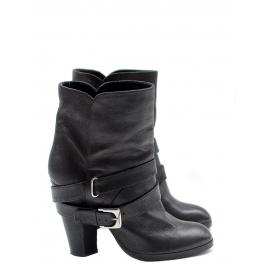 Bottines Biker ankle boots en cuir noir NEUVES Px boutique 600€ Taille 36