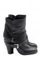 Bottines Biker ankle boots en cuir noir Px boutique 600€ Taille 36