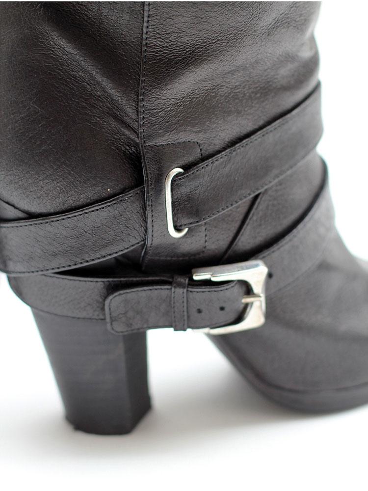 8cc5f361783d6d Louise Paris - MARC JACOBS Biker ankle boots in black leather Retail ...