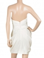 White draped silk strapless dress Retail price 1435€ Size 38