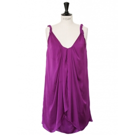 Prune purple strap cocktail dress Retail price $385 Size 36/38