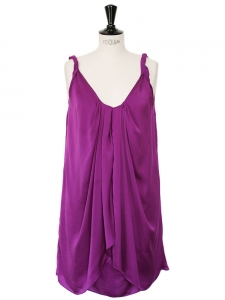 Robe de cocktail violet prune Px boutique 385$ Taille 34