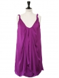 Robe de cocktail violet prune Px boutique 385$ Taille 36