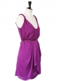 Robe de cocktail violet prune Px boutique 385$ Taille 34