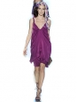 Prune purple strap cocktail dress Retail price $385 Size 34