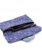 Pochette clutch du soir en dentelle noire et violette