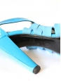 Bright blue high heel patent leather sandals Retail price 750€ SIze 40