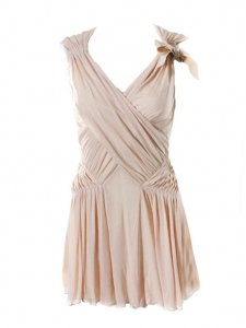 Light pink pleated cocktail dress Retail price 1200€ Size 34/36