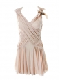 Light pink pleated cocktail dress Retail price 1200€ Size 34