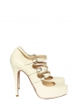 Escarpins multi-brides Lillian en cuir blanc Px boutique $995 Taille 37