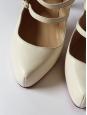 Lillian Multi-strap white leather mary-jane pumps Retail price $995 Size 37