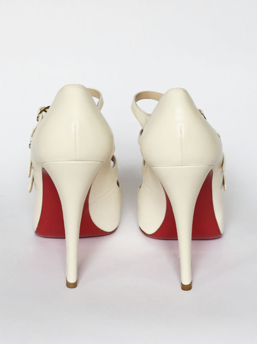 louboutin shoes fake - christian louboutin leather multistrap pumps, louboutin copy shoes