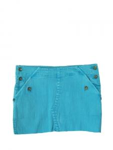 Turquoise blue denim mini skirt Size 36