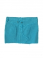 Turquoise blue denim mini skirt Size 36