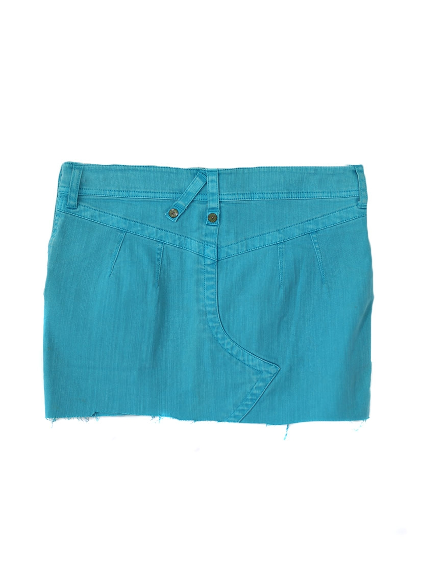 louise paris mini jupe en jean bleu turquoise taille 36. Black Bedroom Furniture Sets. Home Design Ideas