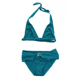 Peacock blue triangle bikini NEW Retail price €150 Size 36