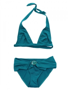 Peacock blue triangle bikini Retail price 180€ Size 36