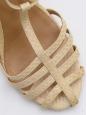 Sandales à talon en python beige Px boutique 600€ Taille 37,5