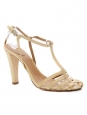 Beige python leather heel sandals Retail price 600€ Size 37,5
