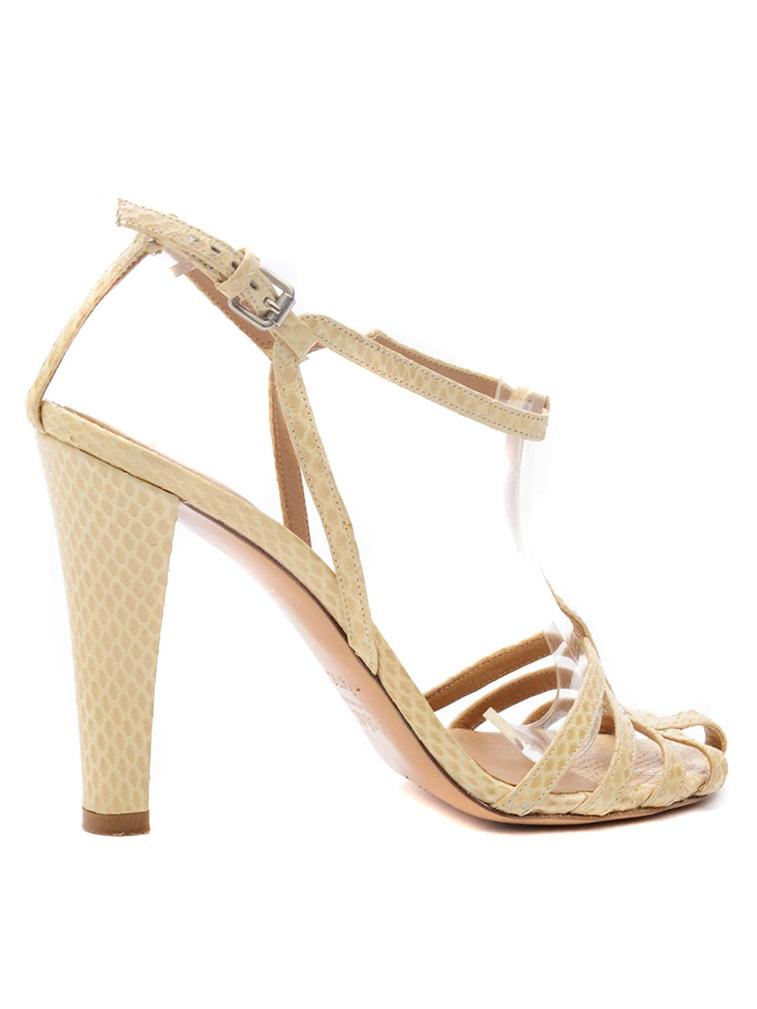 louise paris chloe sandales talon en python beige px boutique 600 taille 37 5. Black Bedroom Furniture Sets. Home Design Ideas