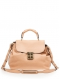 Large ELSIE beige pink grained leather satchel bag NEW Retail price $1395