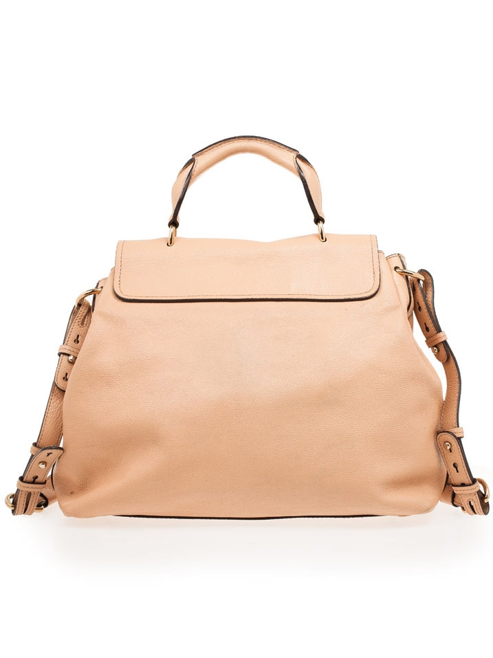 Louise Paris - CHLOE Large ELSIE beige pink grained leather ...