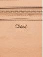 Sac à bandoulière Elsie grand modèle en cuir grainé beige rosé Px boutique $1395