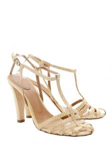 Beige python leather heel sandals Retail price 600€ Size 37,5