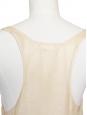 Pink beige glitter silk tank top Size 34