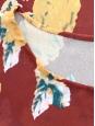 Top manches courtes marron imprimé fleuri jaune ocre Taille 36