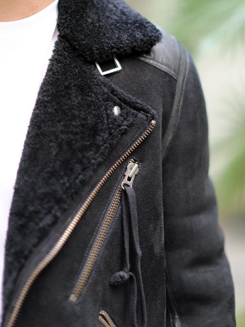 ACNE Veste shearling jacket Homme en cuir de mouton retourné
