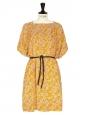 Orange floral print Jersey dress Retail price 350€ Size 36/38
