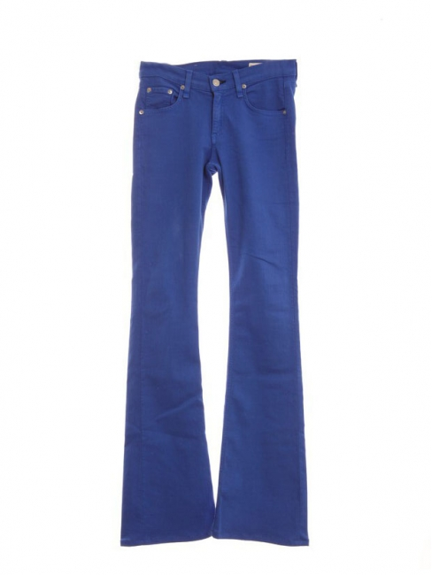 Klein blue mid rise flared jeans Retail price 200€ Size 25