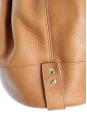 Tan leather bucket bag Retail price 550€