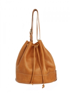 Tan leather bucket bag Retail price 550€