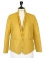 Veste blazer en laine jaune moutarde/anis NEUVE Px boutique 430€ Taille 38