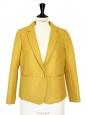 Veste blazer en laine jaune moutarde anis NEUVE Prix boutique 430€ Taille 38