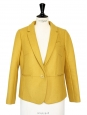 Mustard yellow wool blazer jacket NEW Retail price €430 Size 38